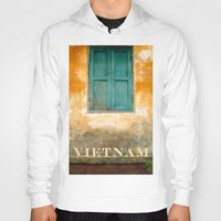 vietnam Hoodies featuring Antique Chinese Wall - VIETNAM by CAPTAINSILVA