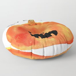Trick or Treat Jack-O-Lantern, Halloween Pumpkin Floor Pillow