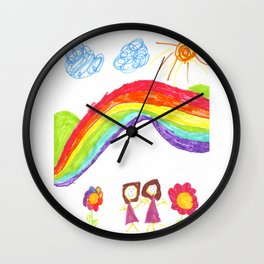 Mommy and Me Wall Clock