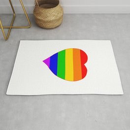 LGBT Rainbow Colors Heart Rug
