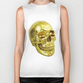 Goldish Skull Biker Tank
