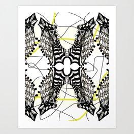 peguins Art Print