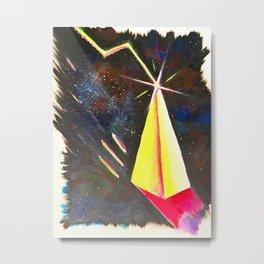 Galaxy Pyramid Metal Print