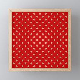 Pattern Pois Doré/Rouge Framed Mini Art Print