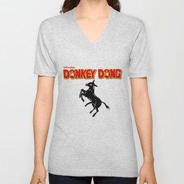 Donkey Dong Unisex V-Neck