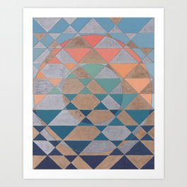 Circles and Triangles Art Print