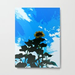 Look Up At A Sunflower Metal Print