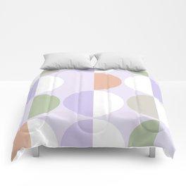 Mid Century Modern Sun and Moon Pattern 3 Comforters