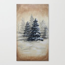 Winter in the Pines Canvas Print