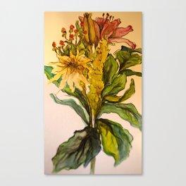 Bouquet #3 Watercolor Canvas Print