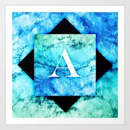 A - Monogram Vivids Art Print