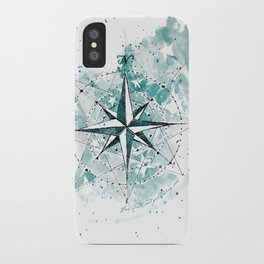 Compass Sketch iPhone Case