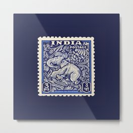 good luck indian elephant postage stamp Metal Print