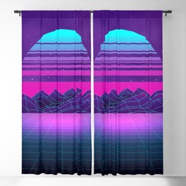 Future Sunset Vaporwave Aesthetic Blackout Curtain