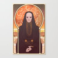 heymonster Canvas Prints featuring Reverend Mother by heymonster