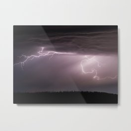 Summer Lightning Storm On The Prairie VI - Nature Landscape Metal Print