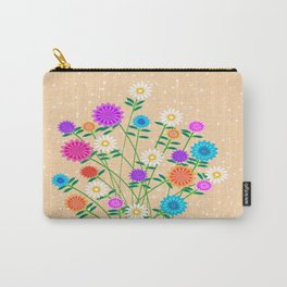 Bright Pretty Flowers Carry-All Pouch