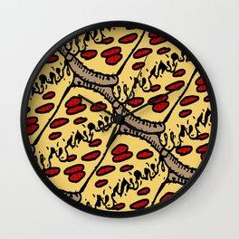 pattern pizza Wall Clock