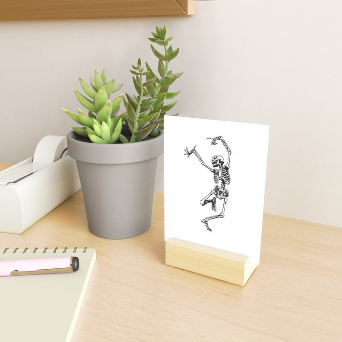 DANCING SKULL Mini Art Print