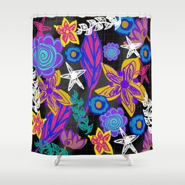 The Insomniac Garden Shower Curtain