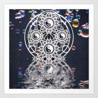 Yin Yang Symmetry Balance Reflection Art Print