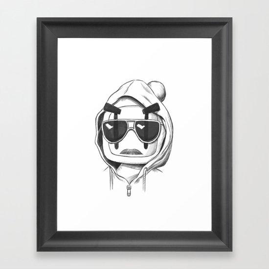 Una-Bomberman Framed Art Print