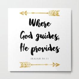 Isaiah 58:11 Christian Bible Verse Metal Print