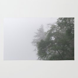 Foggy Morning in North Georgia Mountains 2 Rug