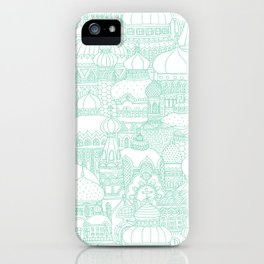 Delightful Domes - Mint iPhone Case