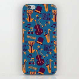 Cool Cat Pattern by Holly Shropshire iPhone Skin