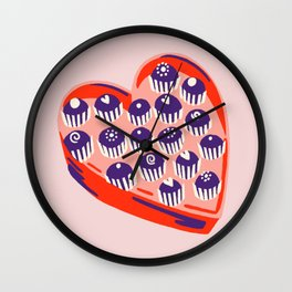 Cupids Cupcakes Wall Clock