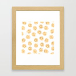 Kumquat Pattern Framed Art Print