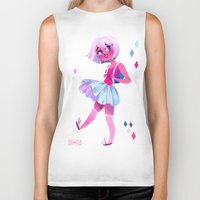 bubblegum Biker Tanks featuring Bubblegum by Anoosha Syed