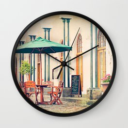 CHARMING COFFEE Wall Clock