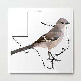 Texas – Northern Mockingbird Metal Print