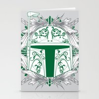 boba Stationery Cards featuring Boba Tatt by Matthew Bartlett