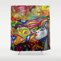 psychedelic Shower Curtains featuring Psychedelic by TheAsmek