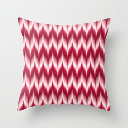 Bargello Pattern in Red and White Throw Pillow