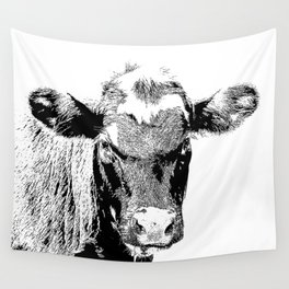 Black Cow Wall Tapestry