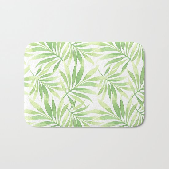 Tropical Branches Pattern 10 Bath Mat