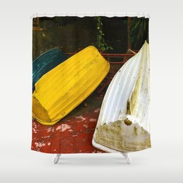 Just Boats Shower Curtain