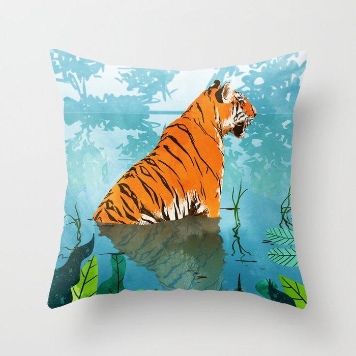 Tiger Creek Throw Pillow