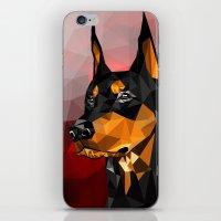 doberman iPhone & iPod Skins featuring Doberman by Ruveyda & Emre
