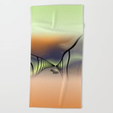 window curtain - the way is difficult -2- Beach Towel