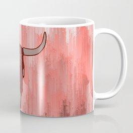 Red Mandala Steer Skull Coffee Mug
