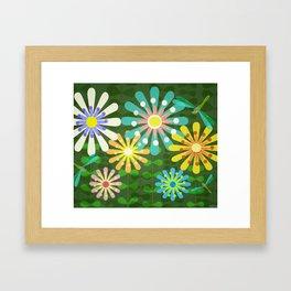 In The Garden Among The Flowers Framed Art Print