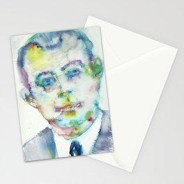 ANTOINE DE SAINT-EXUPERY - watercolor portrait.2 Stationery Cards