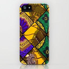 Retro Mardi Gras African Print iPhone Case