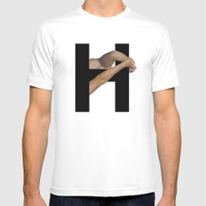 H. Mens Fitted Tee White MEDIUM