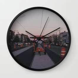 endless construction on girard Wall Clock